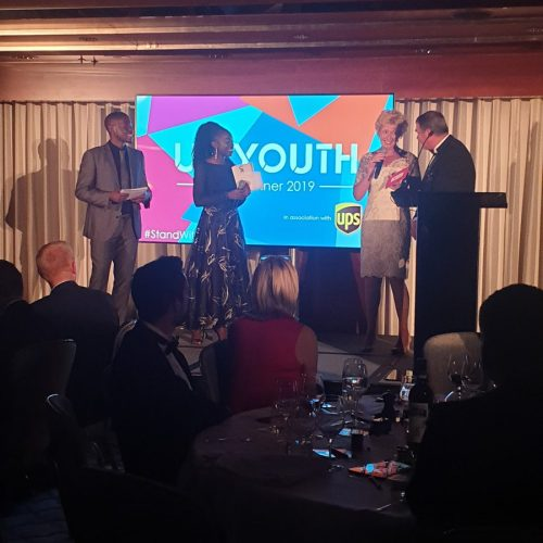 Charlotte attended a wonderful evening hosted by UK Youth in London